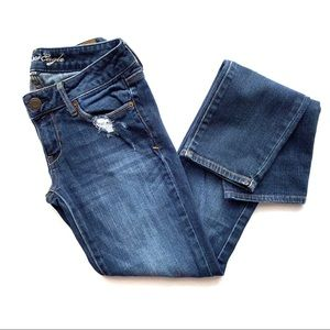 American Eagle Distressed Skinny Jeans Size 4 Long
